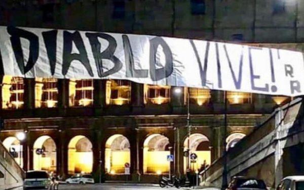 Irriducibili Banner for Diabolik, Source- RadioColonna