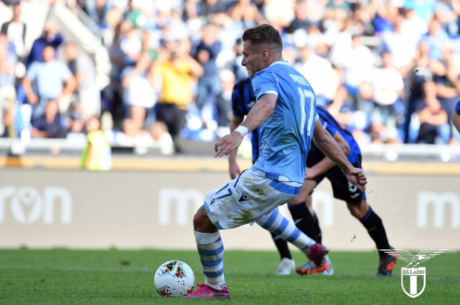Ciro Immobile in Lazio vs Atalanta - Source - Official SS Lazio