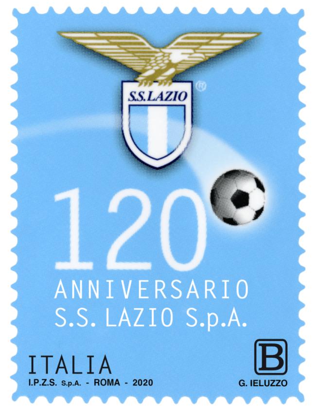 Lazio 120th Anniversary Stamp, Source- Poste Italiane