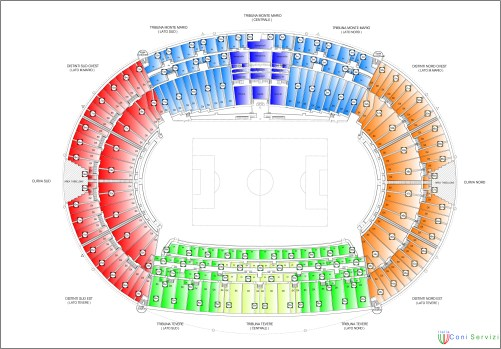 Map of the Stadio Olimpico