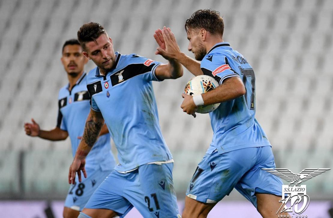 Ciro Immobile Celebrates with Milinkovic-Savic, Source: Official S.S. Lazio