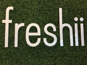 freshii restaurant sign/wall decor
