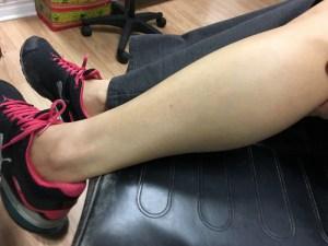 photo of my leg pre-tattoo