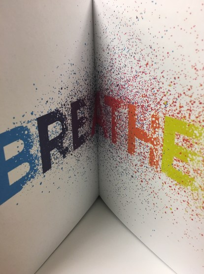 words on a page: breathe