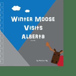 winter moose visits alberta