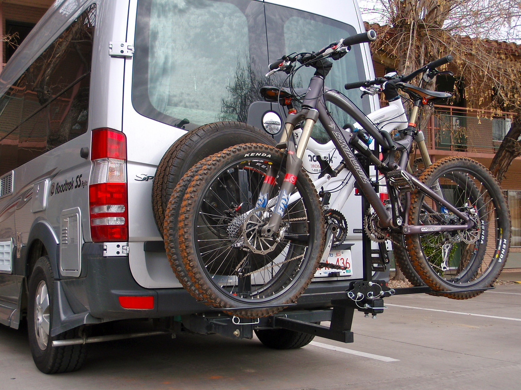 Swagman Rack and 2 SC Nomads on our van.