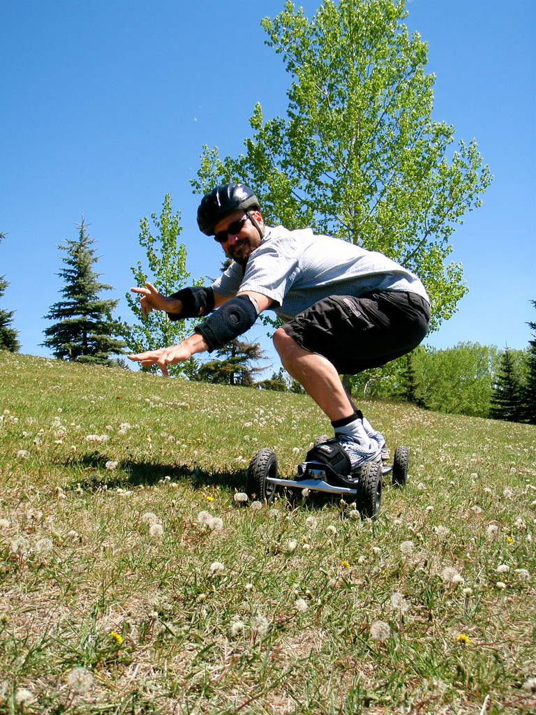 Kurt's brother SEan was the most fearless rider - bombing the hill uber fast!