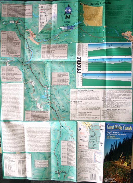 The Canadian Great Divide MTB Route Map