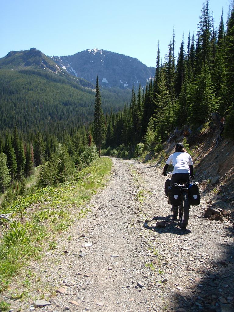 "Kurt rides the ""good"" side of Galton Pass"