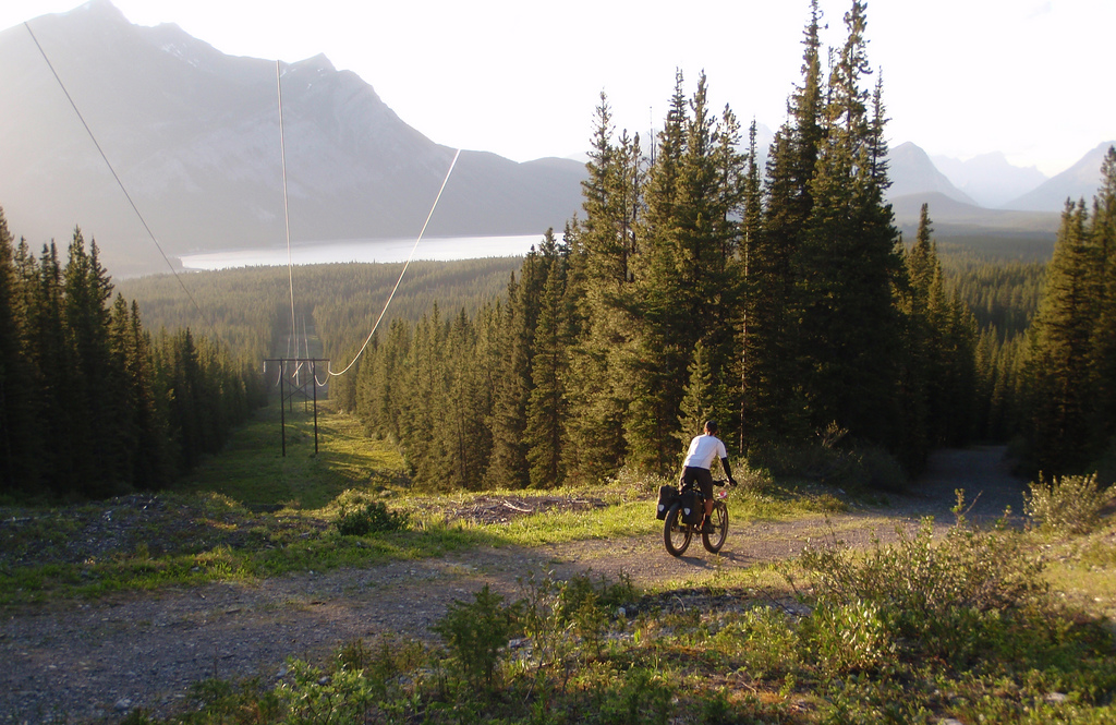 On the right trail into Alberta...
