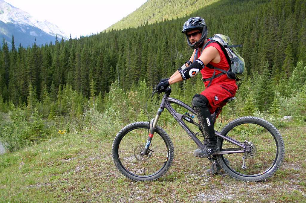 Kurt ready to roll at the start of Goat Creek
