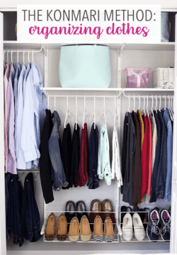 The KonMari method for organizing clothes.
