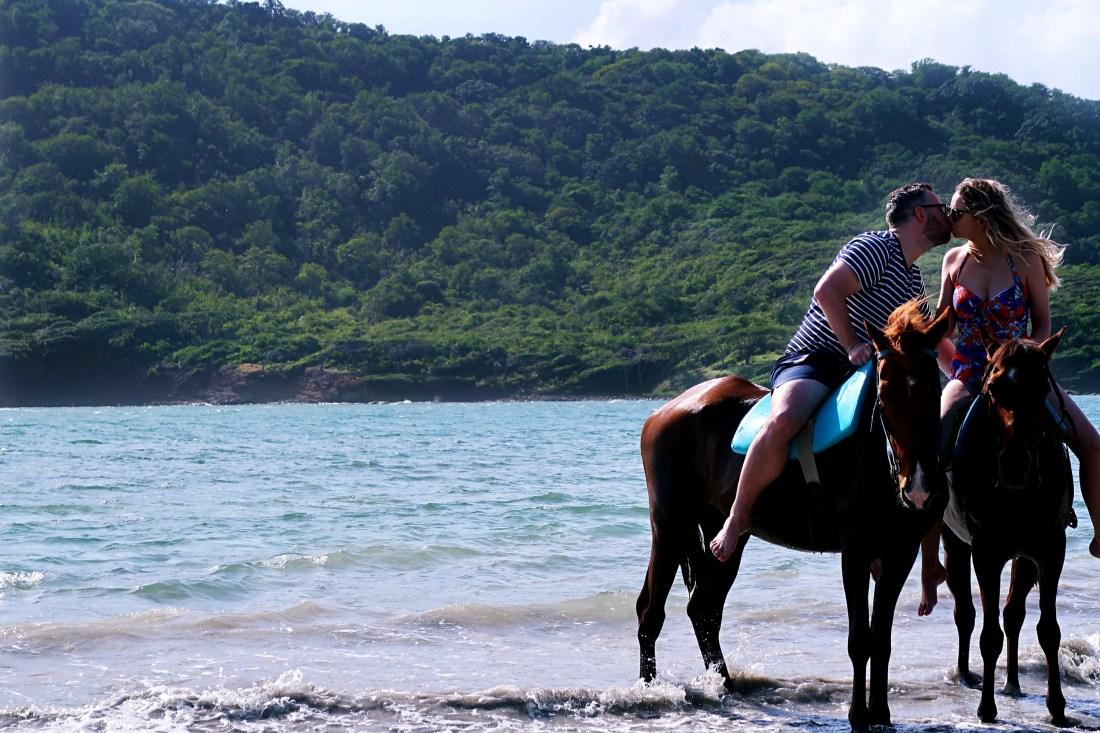 Horse riding on beach and swim Island Routes Saint Lucia
