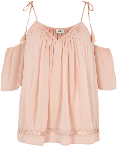 river island pink top