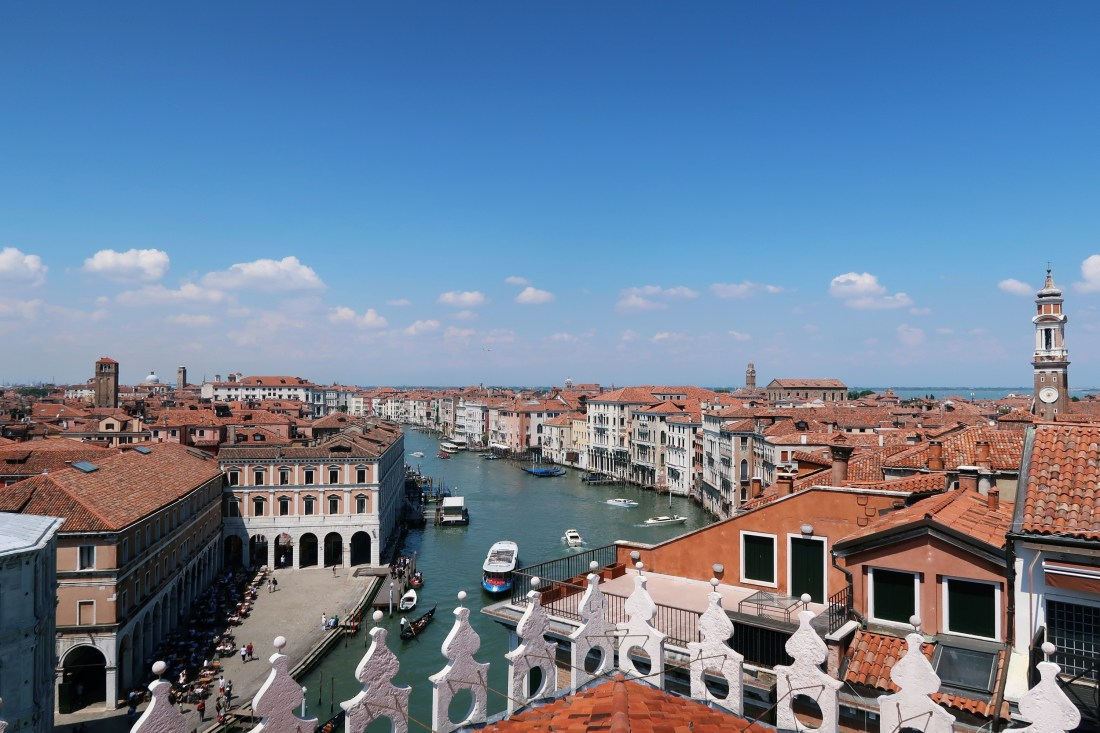 View from T Fondaco dei Tedeschi Rooftop Venice - Things To Do Venice