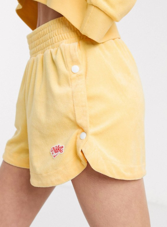 Nike Yellow Towelling Shorts