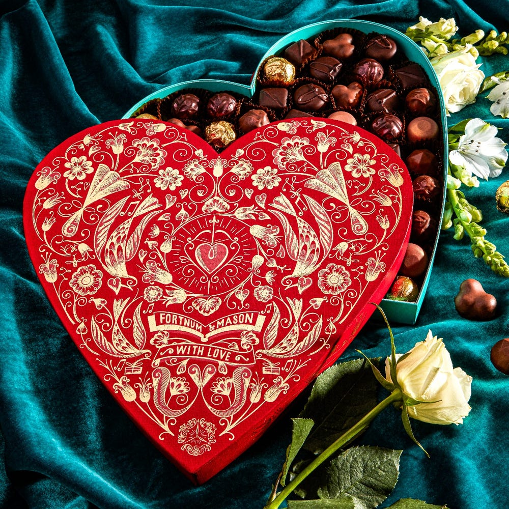 Fortnum's Heart Chocolate Box Valentine's Day 2021