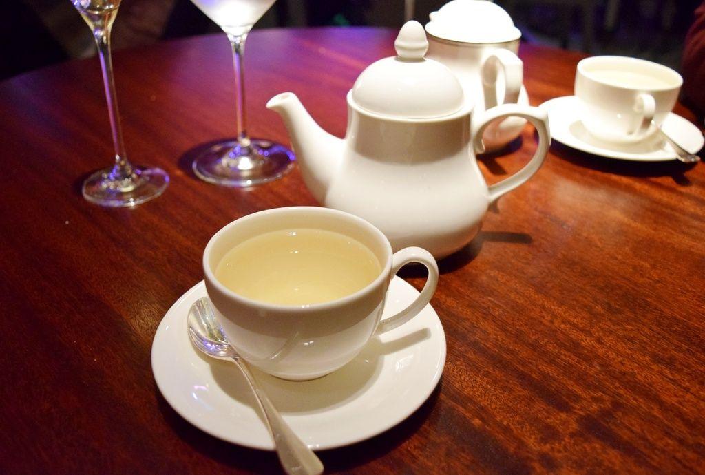 Fresh mint tea and teapot