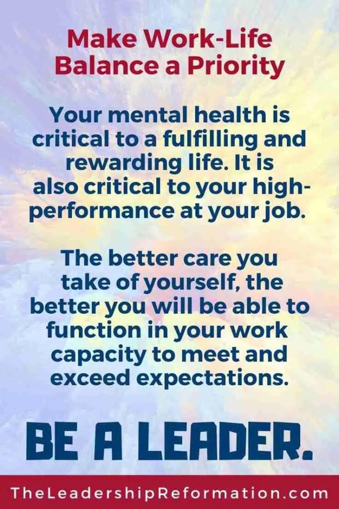 Work-Life Balance Mental Wellness Leadership Development