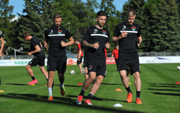 Cork City training in Tallinn ahead of Europa League clash