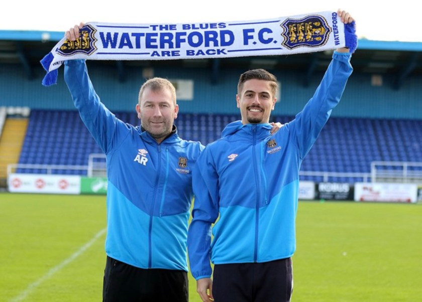 Alan Reynolds and Zack Elbouzedi Waterford FC