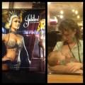 Vegas showgirl and breastfeeding mom