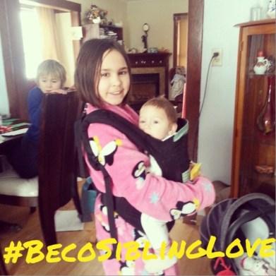 #becoSiblingLove babywearing copy