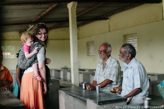 Visiting with the residents of a nursing home in south east India. Photo credit: Ashley Tingley