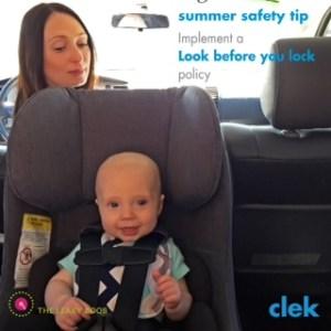 clek car seat safety in summer