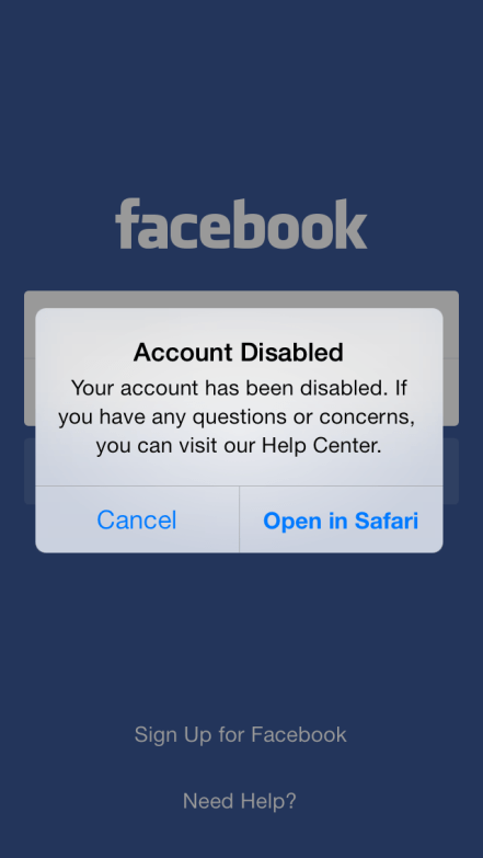 Facebook account disabled after posting breastfeeding photos.