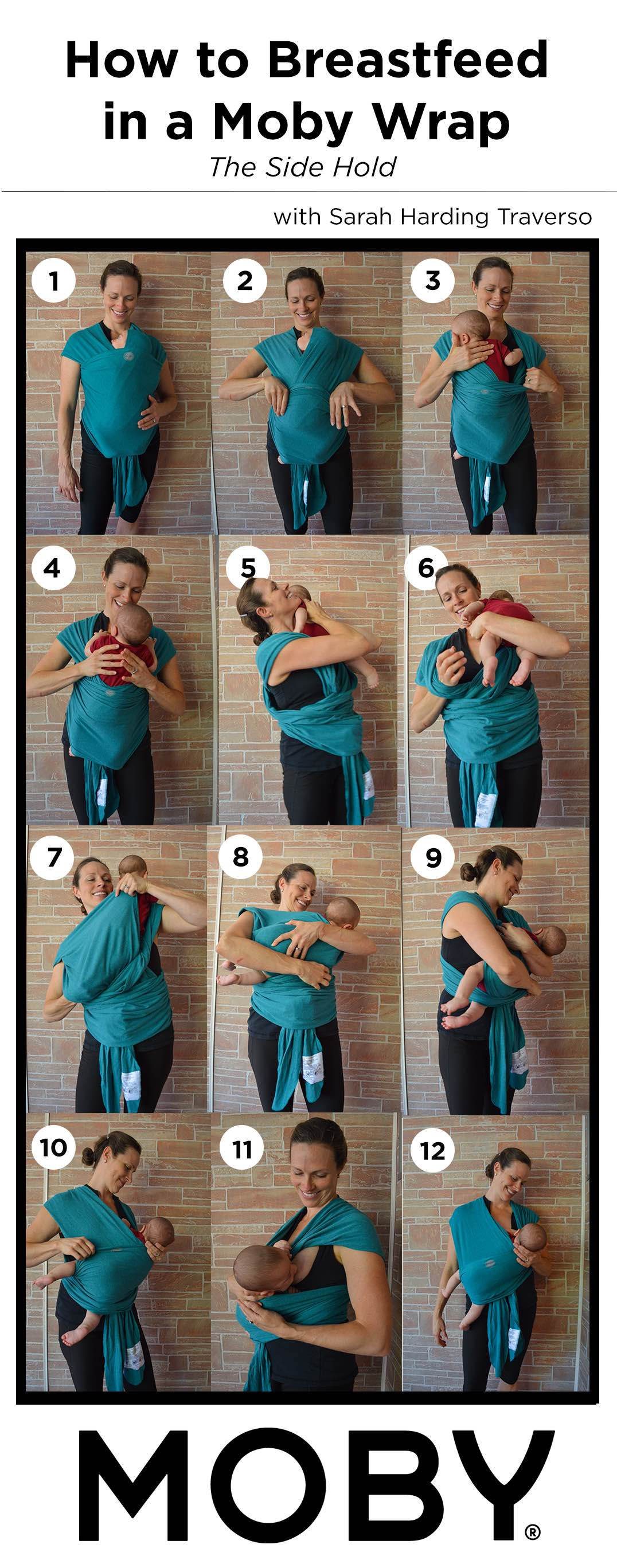 How To Breastfeed In A Moby Wrap The Leaky B B