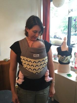 Safe babywearing positioning