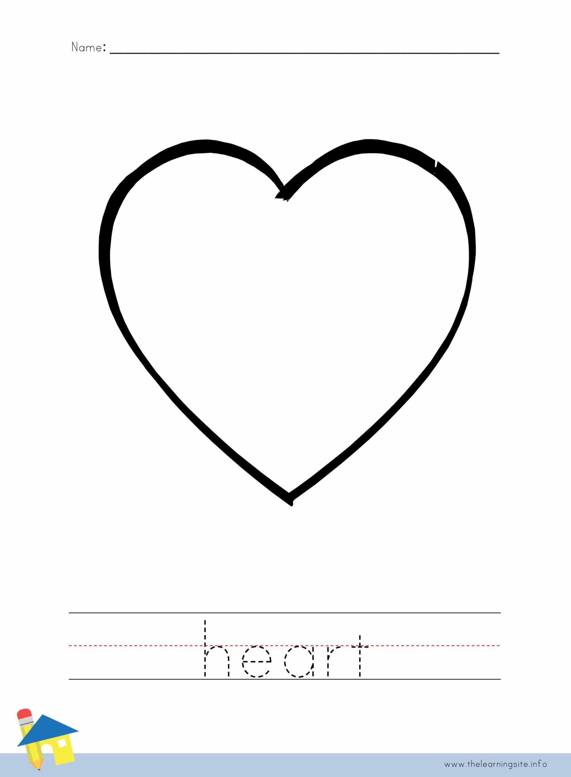 Heart Coloring Worksheet The Learning Site