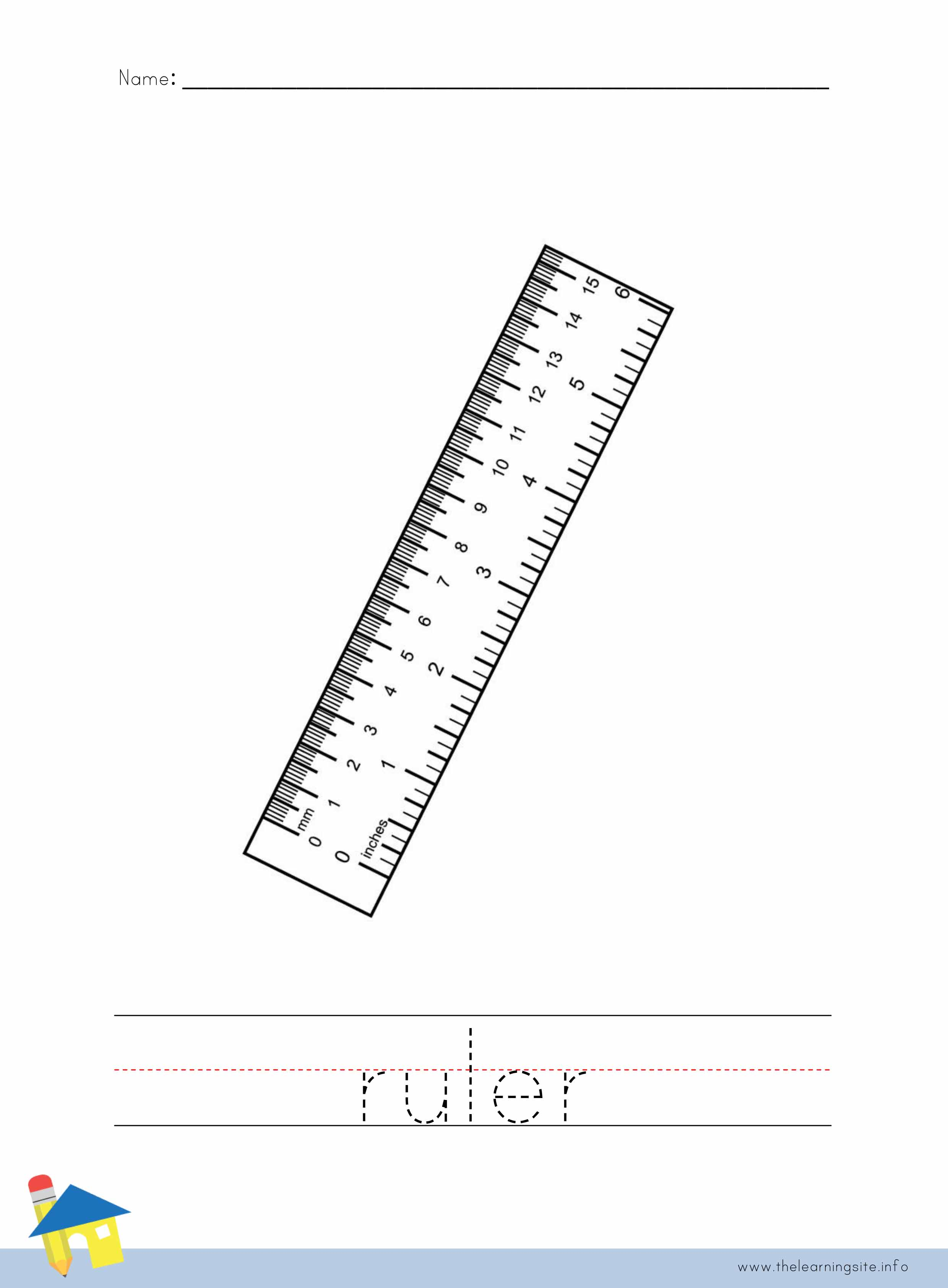 Ruler Worksheet For Kindergarten Ruler Best Free