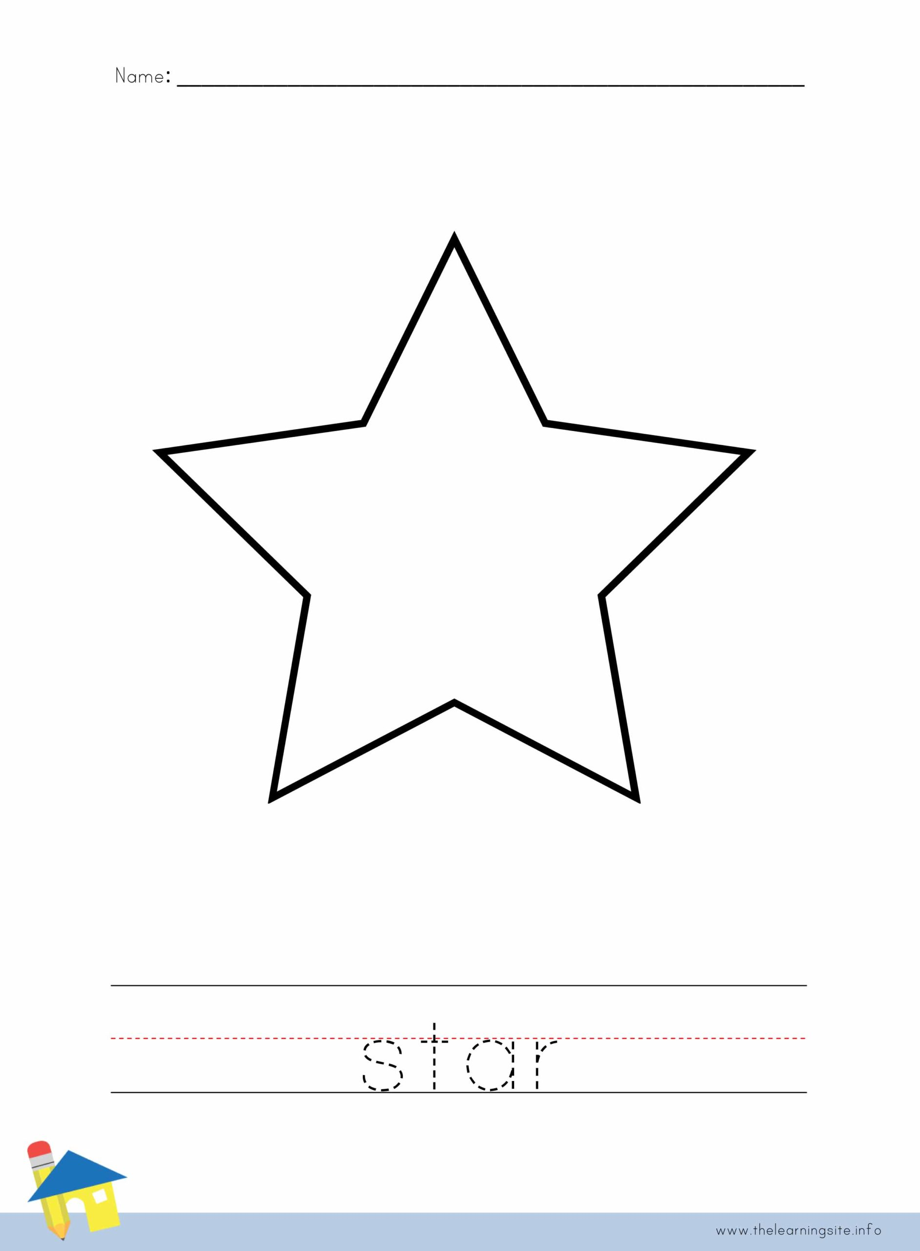 Star Coloring Worksheet The Learning Site