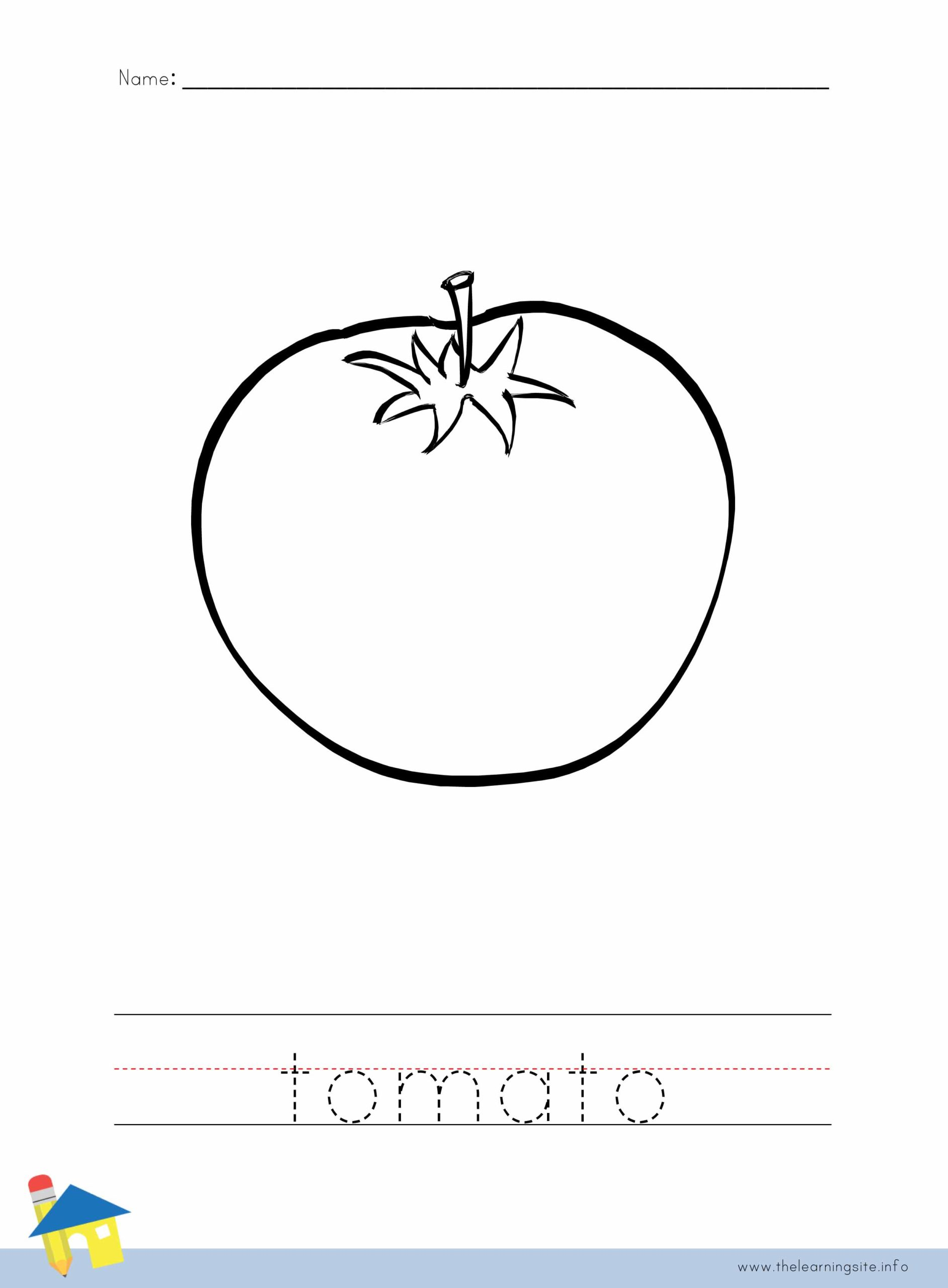 Tomato Coloring Worksheet The Learning Site