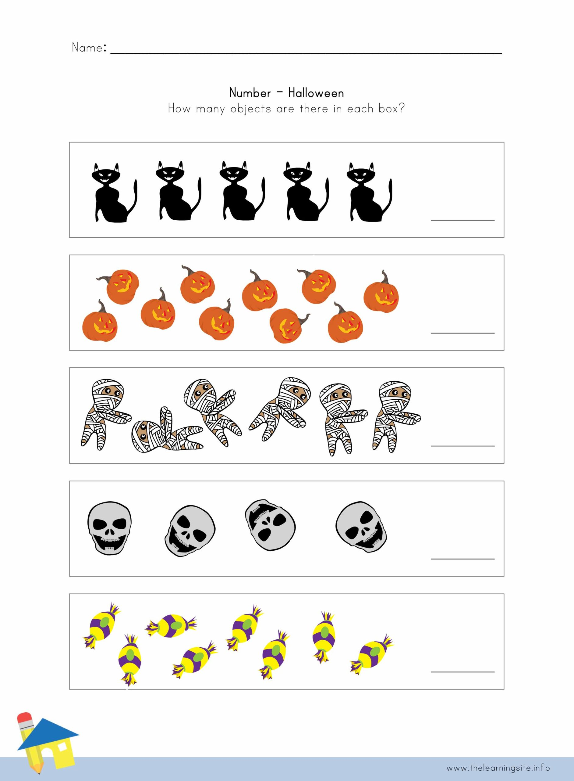 Halloween Number Worksheet 1 The Learning Site
