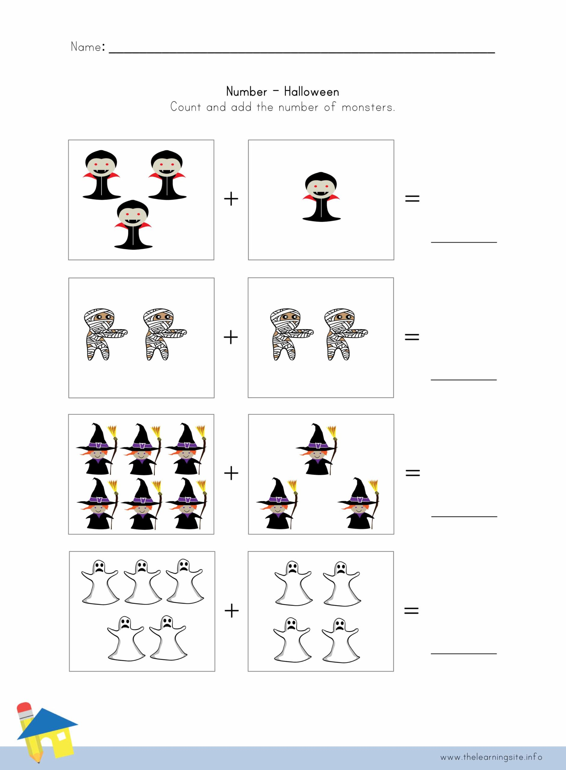 Halloween Number Worksheet 2 The Learning Site