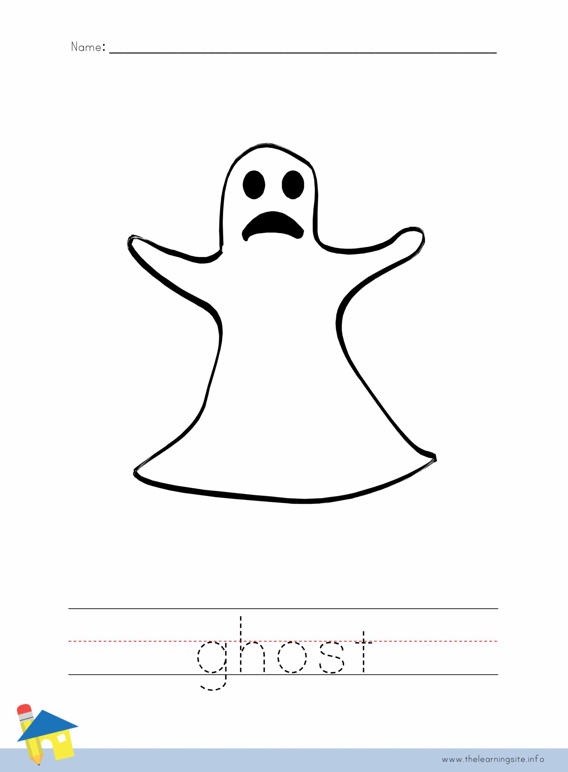 Ghost Coloring Worksheet The Learning Site