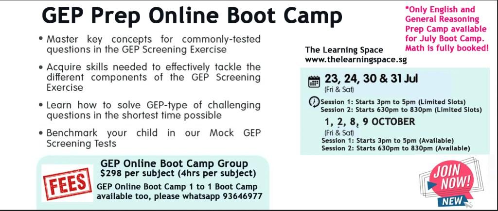 GEP Boot Camp