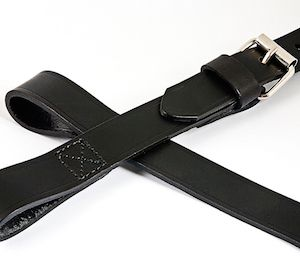 Austin Healey leather spare wheel support strap