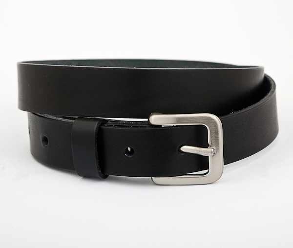 Black Leather Handmade Belt