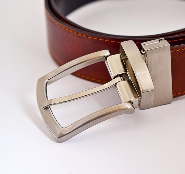 3.5cm Reversible Brown Nickel Plated Belt