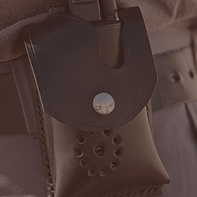 LEATHER RADIO POUCH