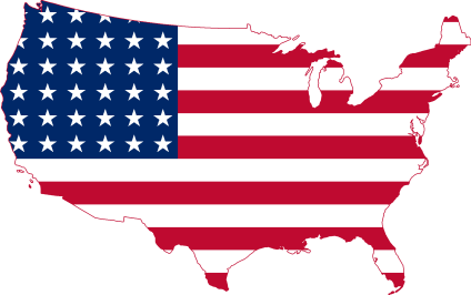 Flag map of the contiguous United States 1912 1959
