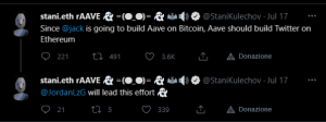 Aave CEO Twitter Ethereum