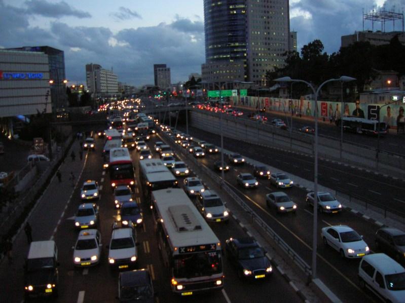 פקק בתל אביב