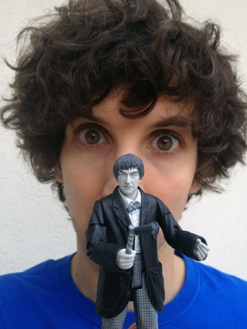 Gabe Diani, Josh's younger brother, enjoys the fact he has a Doctor Who toy that Josh does not have.