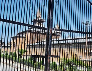 قابض انتظامیہ نے کشمیریوں کو جامع مسجد سرینگر میں نماز جمعہ اداکرنے کی اجازت نہیں دی