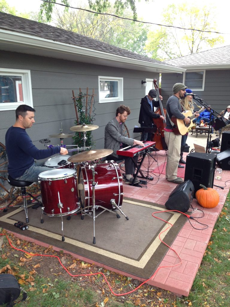 Wells Division playing a house concert in Madison, WI.